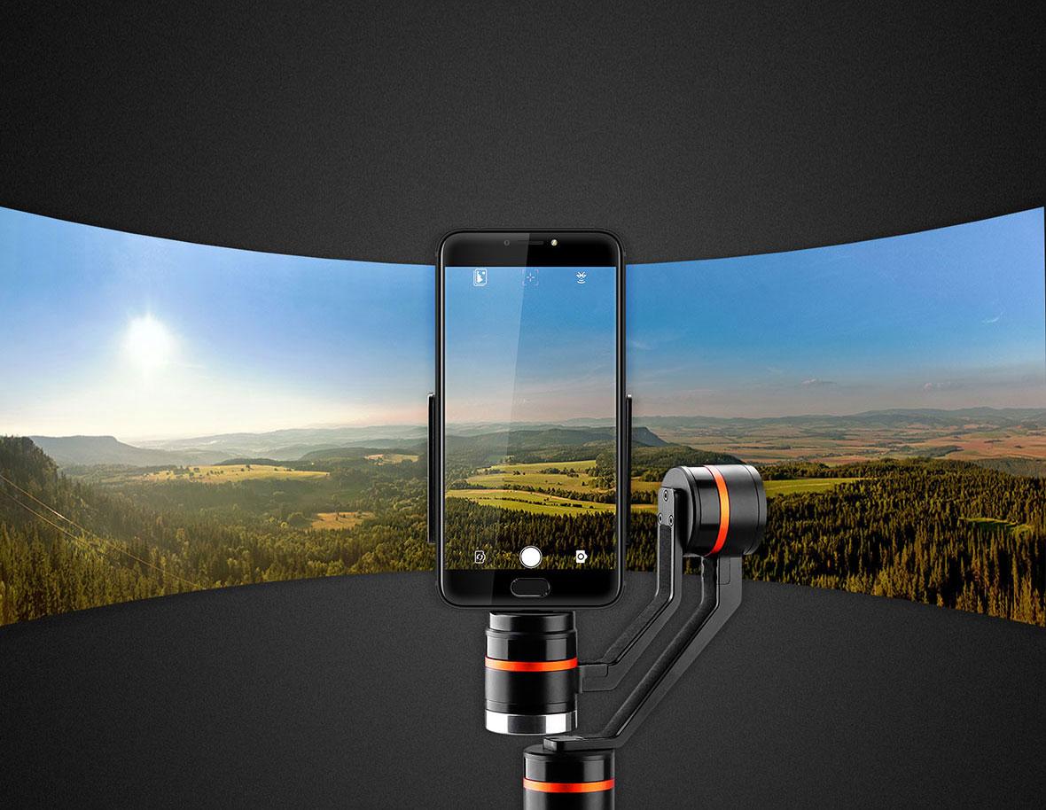 KrugerMatz Horizon este o aplicatie dedicata care iti permite controlul functiilor smartphone-ului, cum ar fii realizarea de fotografii sau inregistrarea de filmari cu gimbalul. Instaleaza aplicatia pe smartphone, conecteaza cu dispozitivul prin Bluetooth si bucura-te de optiunile pe care ti le ofera Horizon de la Kruger&Matz.