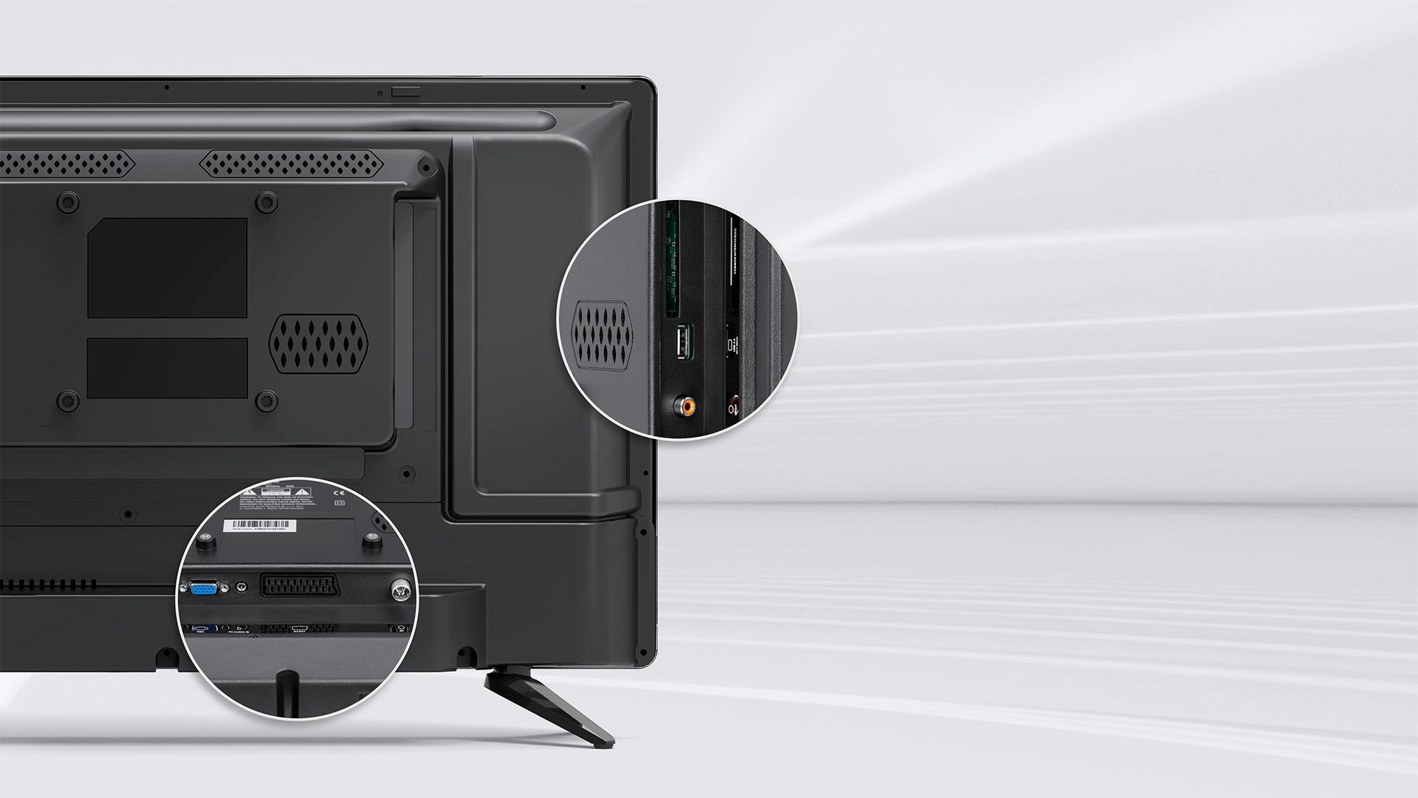 Televiziunea digitala nu iti ajunge? Porturile cu care este dotat televizorul Kruger&Matz extind foarte mult utilitatea dispozitivului. Are, printre altele, port HDMI care garanteaza o buna calitate a imaginii transmise.