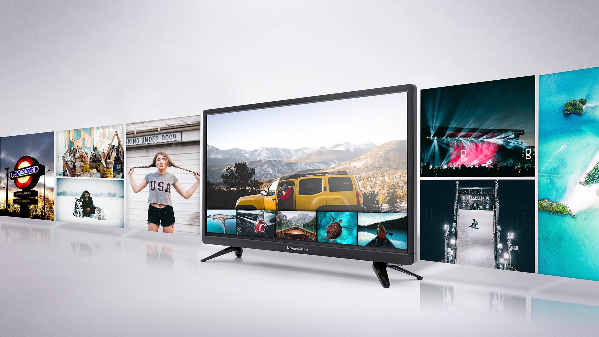 In plus, televizorul tau Kruger&Matz este dotat cu port USB care permite redarea filmelor preferate de pe diverse suporturi media USB, oferind confort si versatilitate.