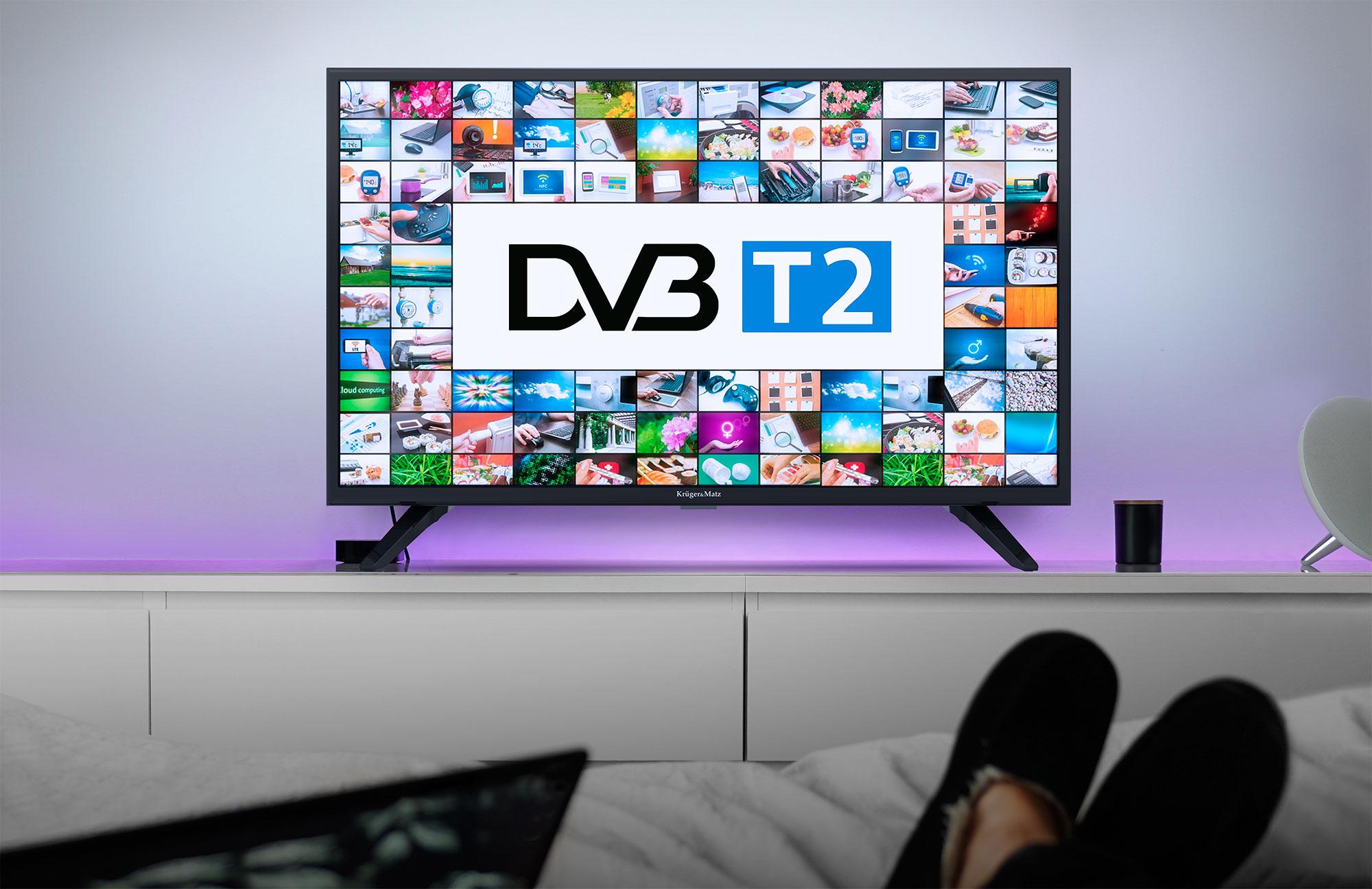 Pentru un plus de confort in utilizare noul televizor de 32 inch de la Kruger&Matz este dotat acum cu tuner DVB-T2 care foloseste pentru a putea prinde posturile transmise in format digital. Acum nu mai trebuie sa cumperi echipamente in plus!