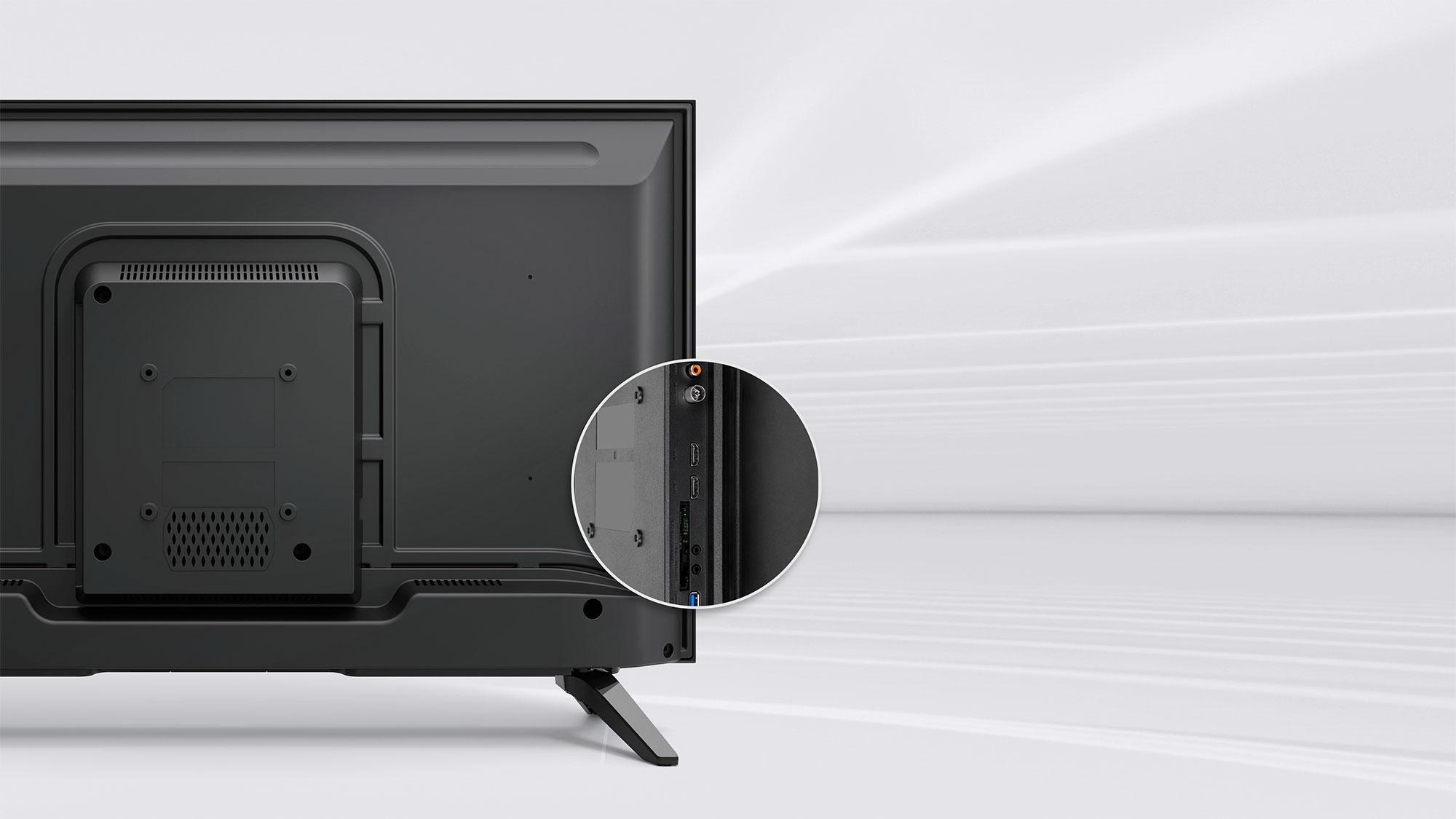 Televiziunea digitala nu iti ajunge? Porturile cu care este dotat televizorul Kruger&Matz extinde foarte mult utilitatea dispozitivului. Are, printre altele, doua porturi pentru conectori HDMI care garanteaza o buna calitate a imaginii transmise.