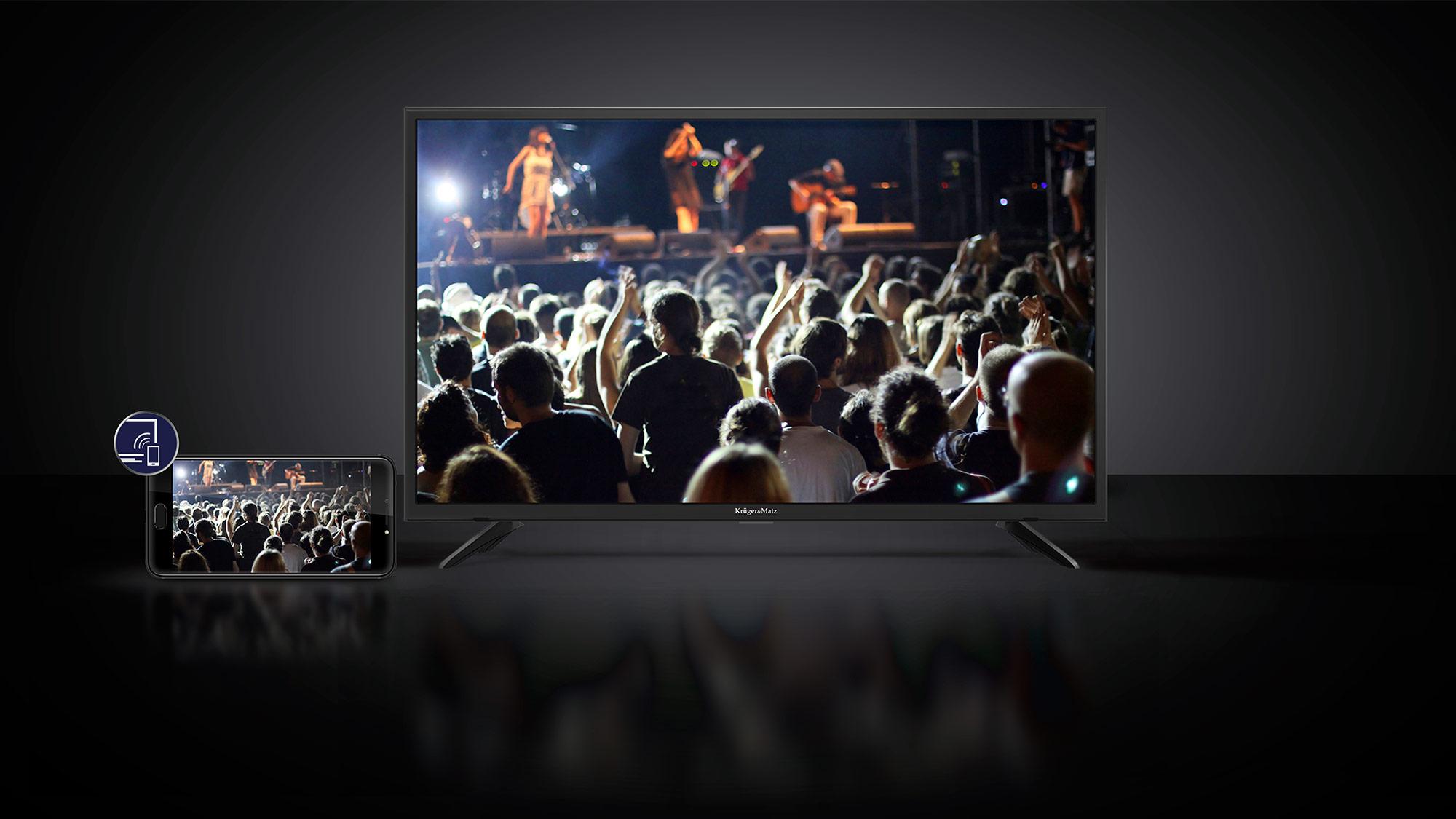 Vrei sa arati filmuletele si fotografiile salvate pe telefon? Doresti sa joci pe un ecran mai mare de 5 inch jocul preferat? Toate acestea sunt posibile datorita display-ului Wi-Fi care iti permite sa transmiti wireless continutul dispozitivului mobil direct pe ecranul televizorului tau.
