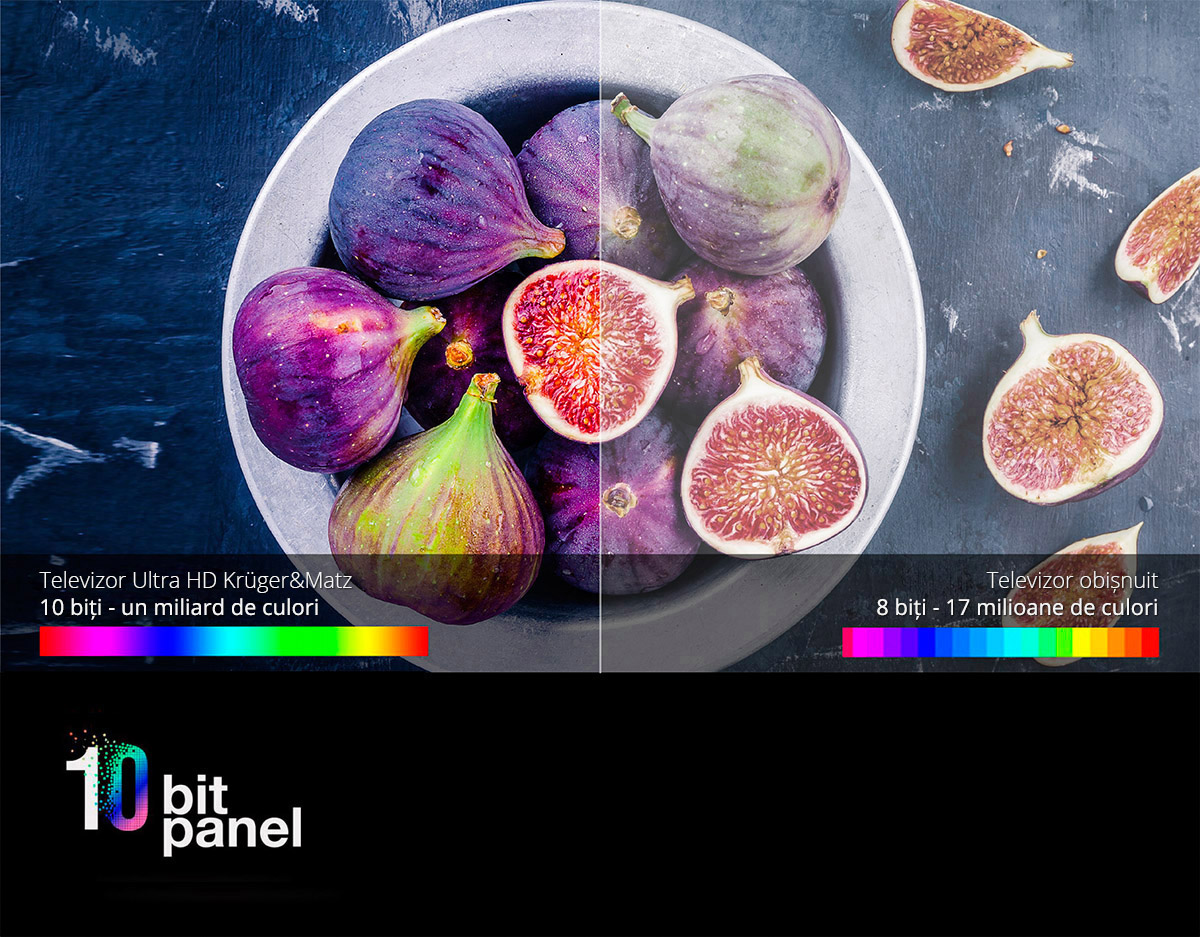 Tehnologia HDR iti ofera o serie de beneficii, cum ar fi un contrast mai mare al imaginii, o gama mai larga de culori si o claritate mai buna. Vei avea parte de o mai buna reproducere a culorilor si profunzime a imaginii. Simte diferenta!