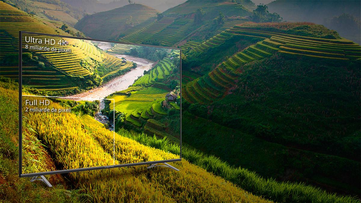 CVrei o calitate a imaginii care sa iti permita sa vezi orice detaliu? Vino in noua dimensiune a televizoarelor 4K de la Kruger&Matz! In comparatie cu televizoarele Full HD are o rezolutie de 4 ori mai mare, care iti permite sa observi si cele mai mici detalii.