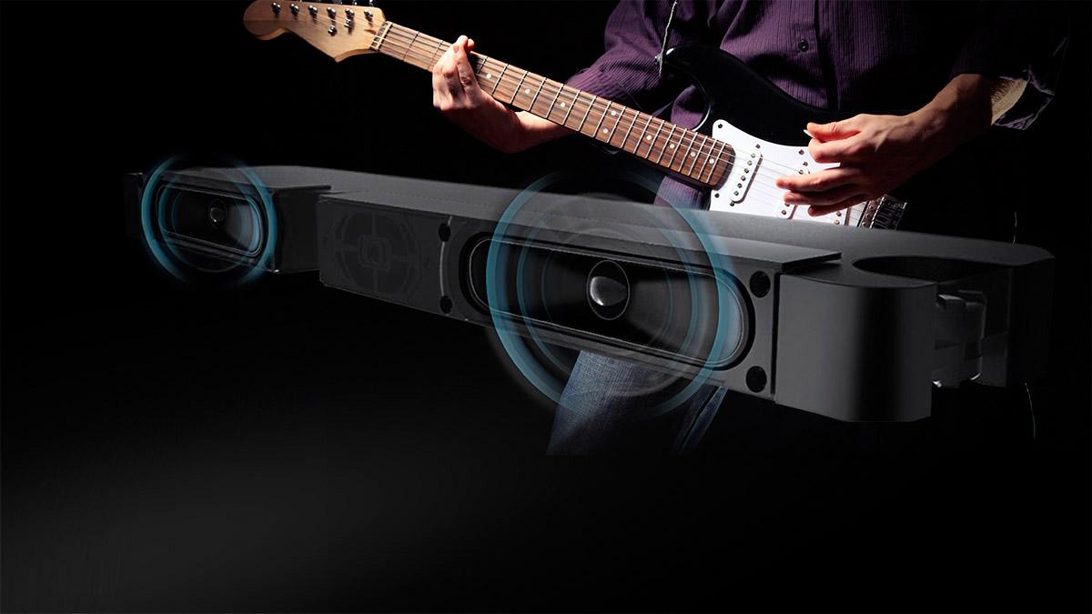 Televizorul Smart de 75 inch de la Kruger&Matz are un subwoofer incorporat, iar astfel camera ta va fii plina de un sunet puternic si clar. Urmareste filme, asculta muzica si simte o noua dimensiune a sunetului!