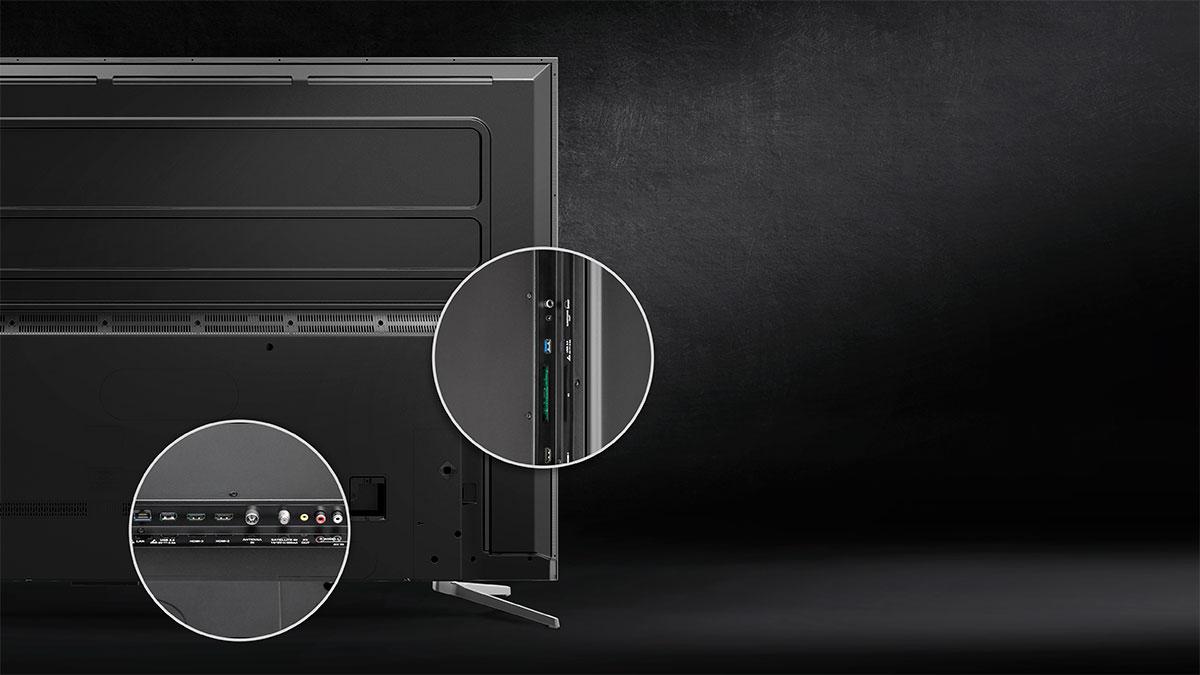 Televizorul Kruger&Matz este dotat cu o serie de porturi care iti permit conectarea de dispozitive suplimentare, transformand televizorul intr-o adevarata platformade distractie. Urmareste filme, contecteaza consola de jocuri sau sistemul audio si profita la maxim de specificatiile televizorului tau.