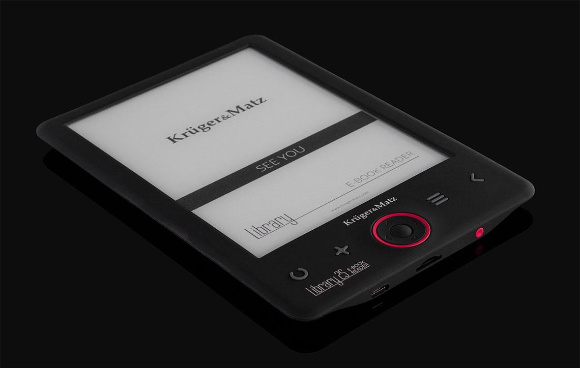 E-book reader-ul Library 2S este un dispozitiv care atrage cu siguranta atentia. Dispay-ul de 6 inch este incadrat intr-o carcasa neagra cu stil, ce va atrage atentia celor cu gusturi clasice. Un avantaj suplimentar este greutatea scazuta, care impreuna cu dimensiunea compacta faciliteaza utilizarea cu o singura mana a produsului.