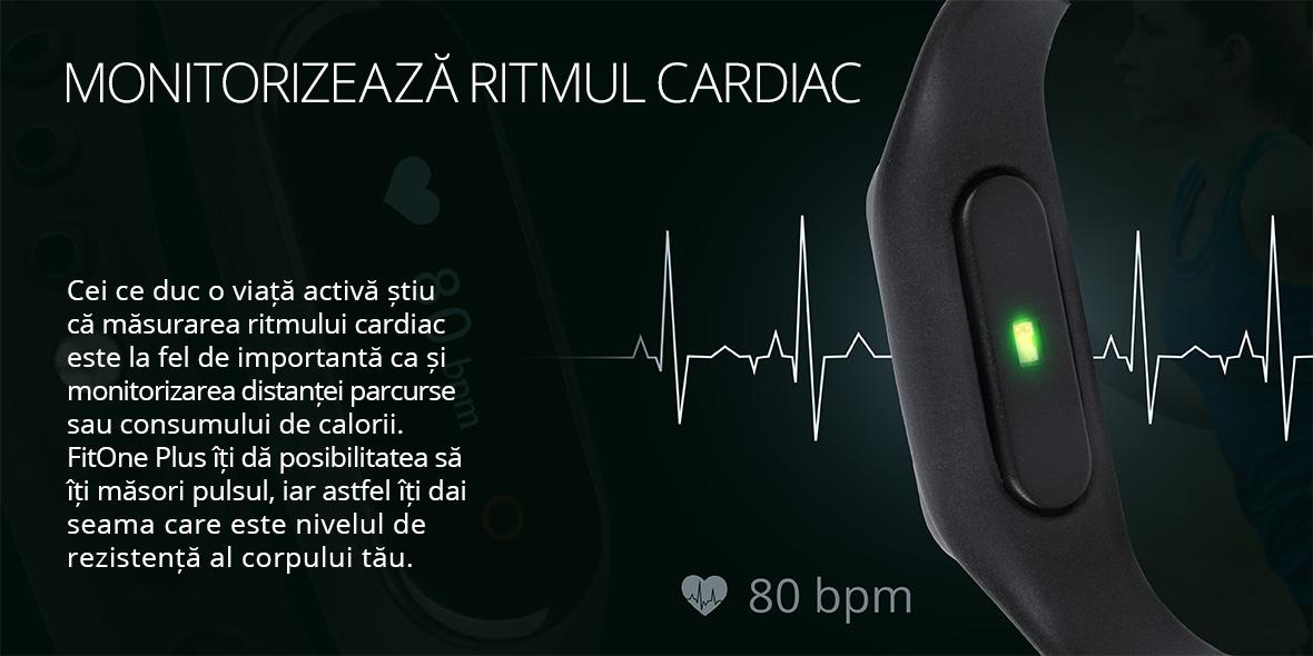 Cei ce duc o viata activa stiu ca masurarea ritmului cardiac este la fel de importanta ca si monitorizarea distantei parcurse sau a consumului de calorii. FitOne Plus iti da posibilitatea sa iti masori pulsul, iar astfel iti dai seama care este nivelul de rezistenta al corpului tau.