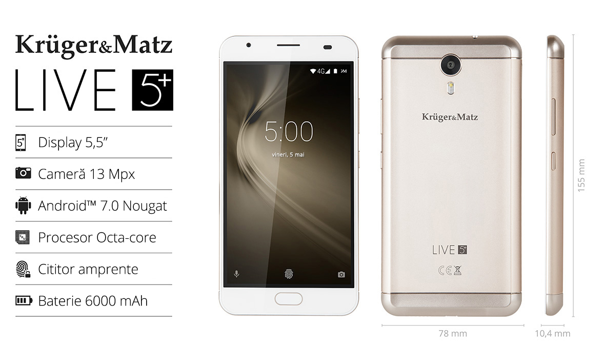 Smartphone Kruger&Matz LIVE 5+