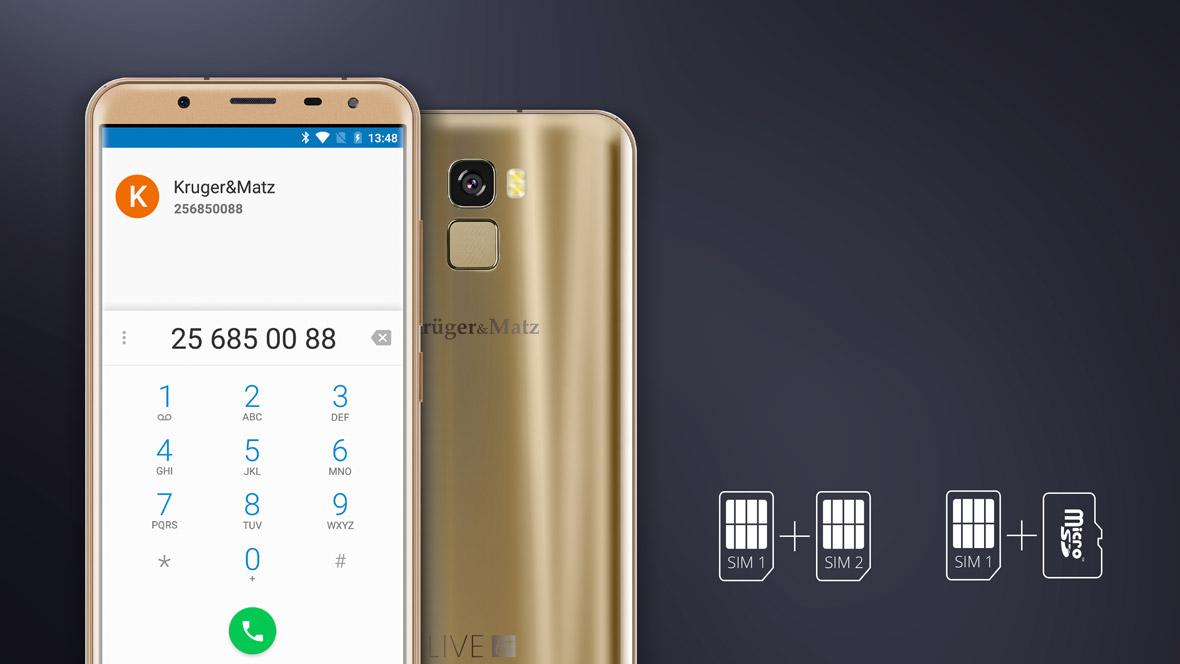 De ce sa folosesti doua telefoane daca poti sa le inlocuiesti cu unul singur - LIVE 6+? Smartphone-ul a fost dotat cu functie dual SIM, ceea ce inseamna ca are doua carduri! Solutia perfecta pentru cei cu doua numere de telefon. Folosesti doar un singur card SIM? Poti folosi al doilea slot pentru a extinde memoria telefonului cu un card de memorie.
