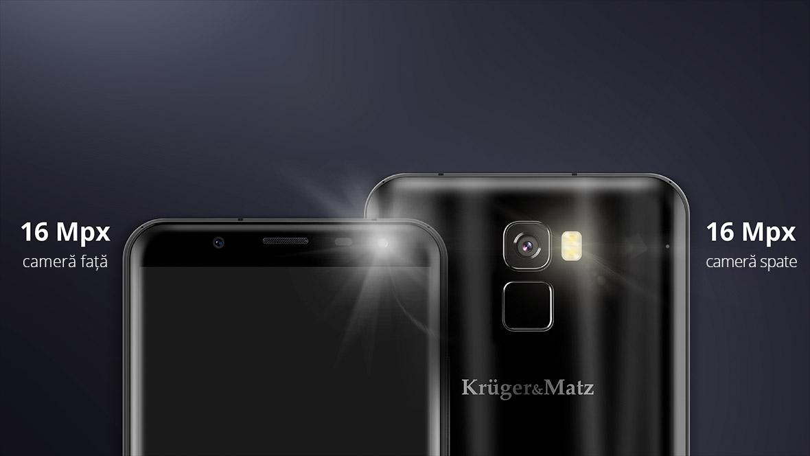 Vrei ca toate pozele tale sa arate foarte bine? Ambele camere ale smartphone-ului LIVE 6+ de la Kruger&Matz au o rezolutie de 16 Mpx. Acest lucru inseamna ca pozele de tip selfie vor avea aceasi calitate ca si pozele cu peisaje. Surprinde toate momentele importante pentru tine pentru a te bucura de ele si mai mult!
