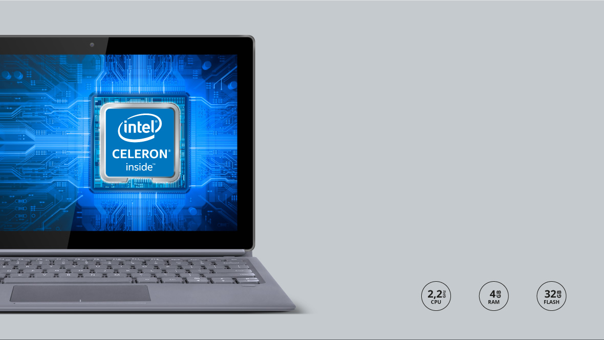 Fie ca folosesti tableta EDGE 1162 fpentru a lucra sau pentru distractie, dispozitivul va functiona usor datorita  procesorului Dual-core Intel® Celeron® N3350 care in combinatie cu cei 4 GB de memorie RAM vor asigura o performanta inalta si stabilitate in functionare.
