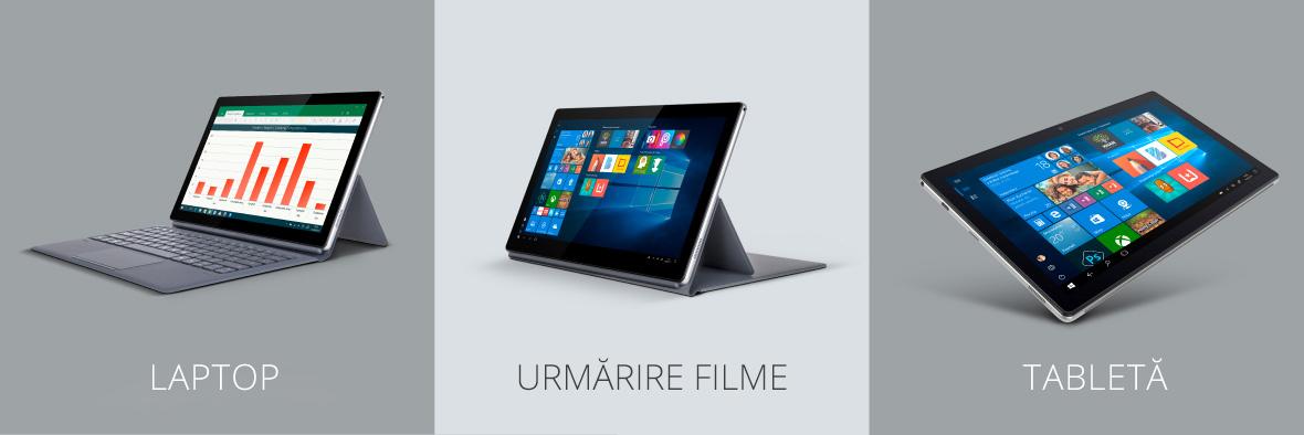 Tableta EDGE 1162 se poate transforma usor intr-un adevarat instrument de afaceri. Dupa ce atasezi tableta de tastatura dedicata, dispozitivul arata foarte bine, dar este si foarte practic.