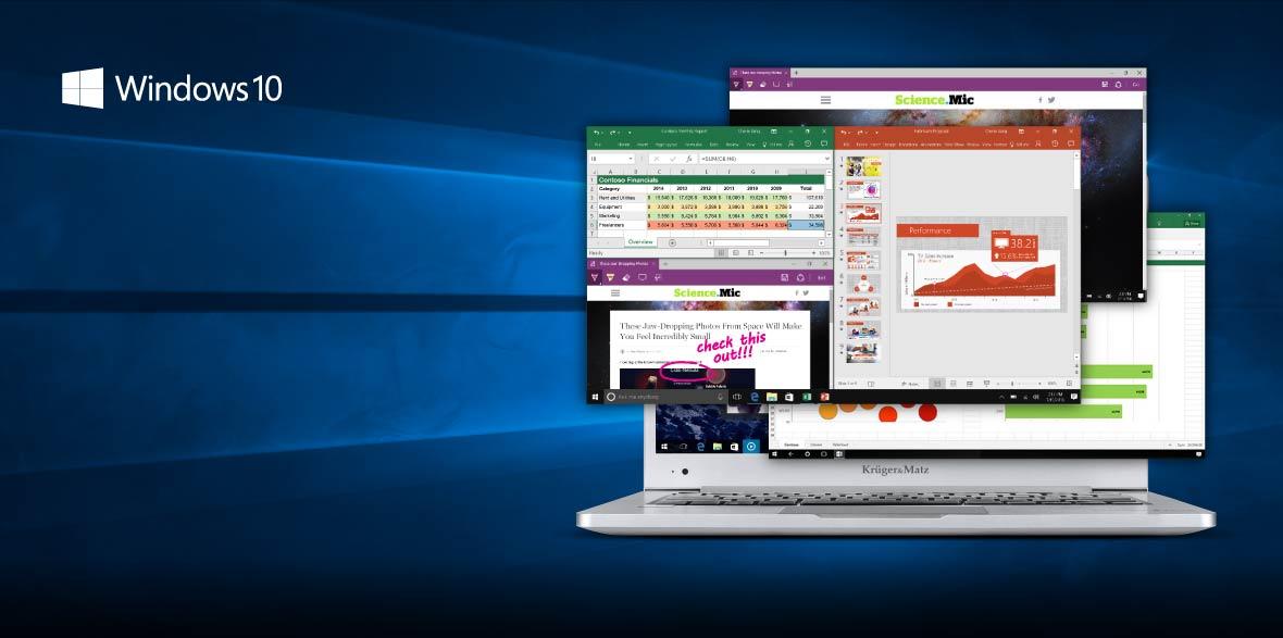 Sistemul Windows 10 este cunoscut si simplu de utilizat. Meniul de Start imbunatatit apare din nou, astfel incat poti accesa rapid aplicatiile si functiile preferate. Cu Windows 10 te simti acasa.