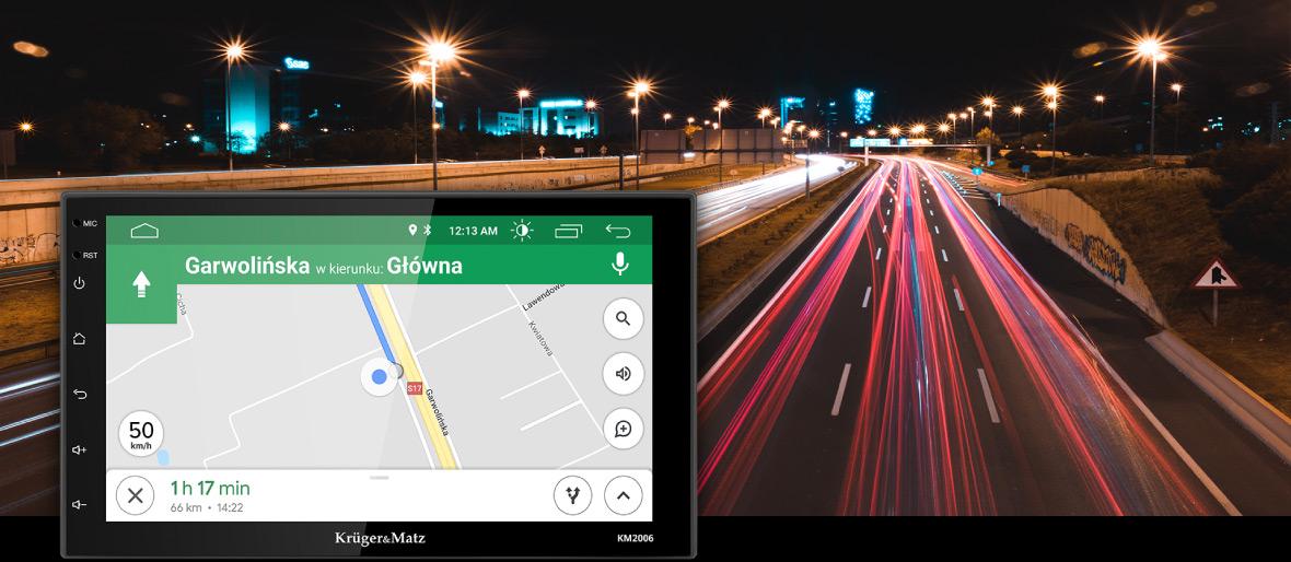 Poti folosi radioul auto Kruger&Matz 2006 ca si GPS. Mai mult, nu mai trebuie sa descarci noi upadate-uri pentru harti deoarece sistemul Android iti permite sa folosesti Google Maps. Acum vei gasi cu usurinta drumul, indiferent care este destinatia ta!