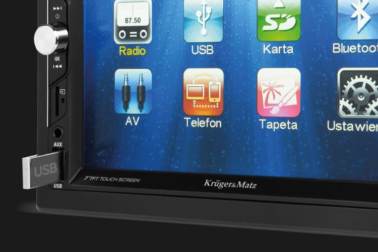 Radio auto cu USB, AUX, SD